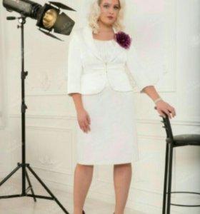 Атласное платье с жакетом от tobebride