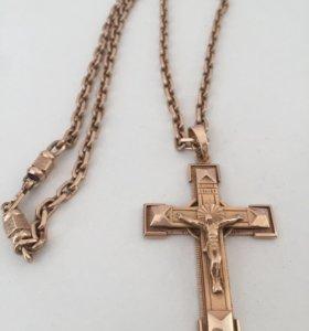 Якорная цепь с крестом ручной работы
