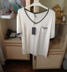Блуза белая, итальянская