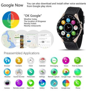 KW88 Smart Watch Android Quad Core 4GB