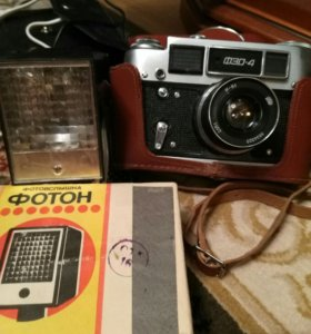 Фотоаппарат Фед-4 и вспышка Фотон