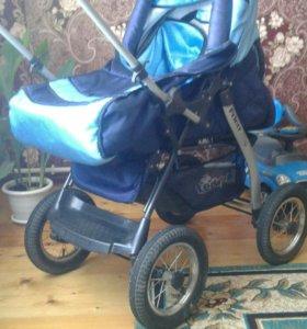Детская коляска б/у (зима-лето)
