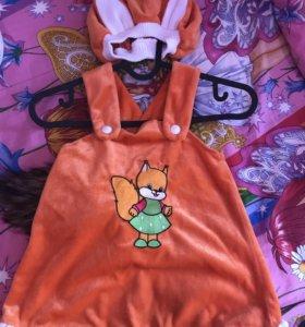 Детский новогодний костюмчик лисичка