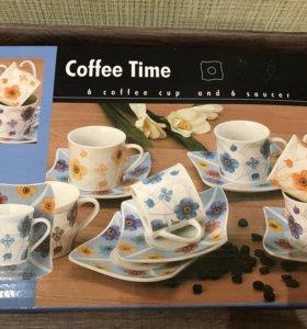 Новый кофейный набор 6персон