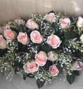 Искусственные цветы украшение интерьер свадьба