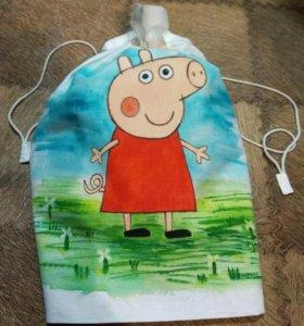 Мешок для пижамы, для игрушек. Подарочный мешок