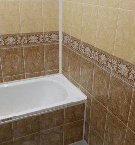 Плитка, панели, ванна, ремонт, туалет