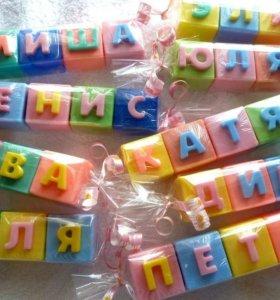 Мыло ручной работы буквы