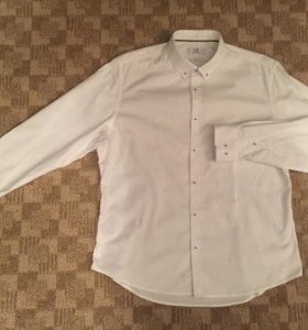 Мужская белая рубашка OGGI