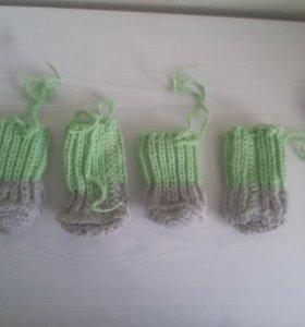 Вязаные носочки (новые)