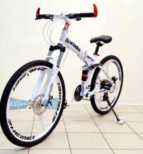 "Велосипед складной Mercedes 26"" 21ск. white 3 луча"