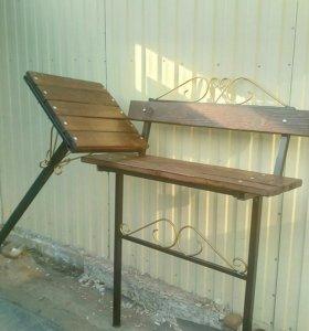 Набор: скамья и столик.