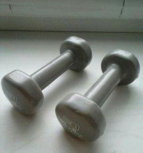 Гантеля одна виниловая Iron Body 1кг Grey