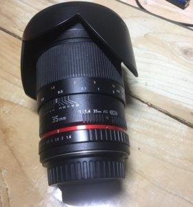 Объектив Samyang 35 mm f1.4