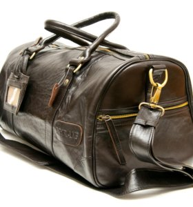 Мужская кожаная спортивная сумка