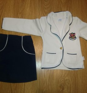 Костюм:пиджак и юбка для девочки baby small, 116см