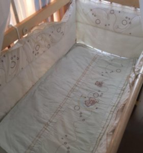 Балдахин, бортики, одеяло, держатель,подушка