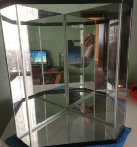 Аквариум зеркальный угловой