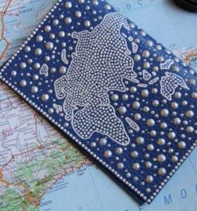 Обложка на паспорт с росписью