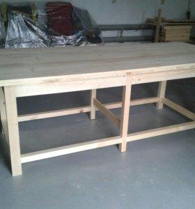 Большой стол для беседки, гостиной или кухни
