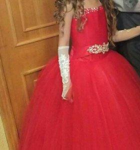 Пышное платье для девочки на выпускной