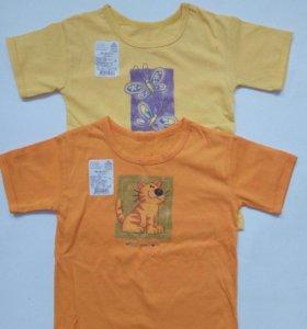 Новые футболки для девочки, рост 92 см