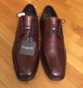 Мужские туфли кожаные новые Bugatti (45 р.)
