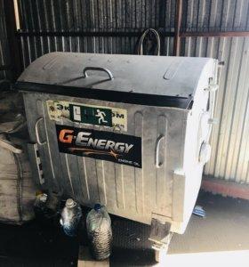 Оцинкованый бак для мусора 1100 литров