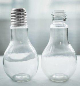 Бутылка в виде лампы