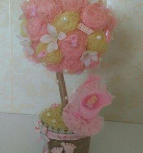 Топиарии, декор, украшение из цветов