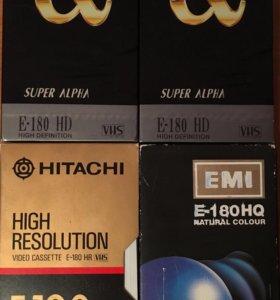 Видеокассеты VHS новые