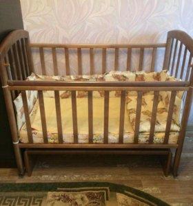 Кровать детская, коляска 3 в 1, санки