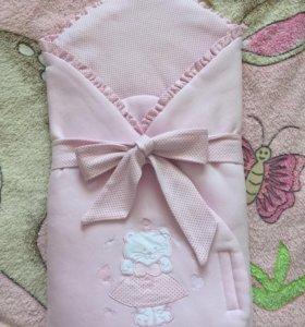 Конверт-одеяло на выписку + ванночка