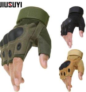 Тактические перчатки без пальцев новые