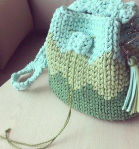 Вязаная торба из трикотажной пряжи, новая