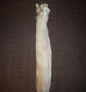 Волосы натуральные на заколках