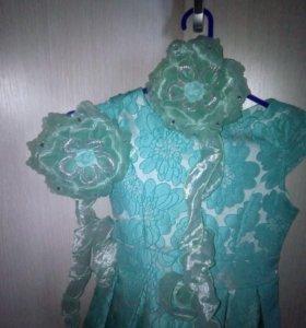 Платье + бантики.Одевалось 2 раза