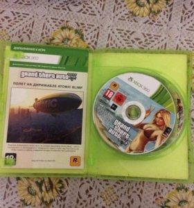 Диск GTA 5 для Xbox 360