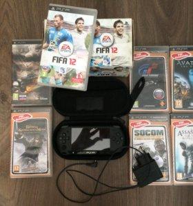 Sony PSP + чехол + 7игр