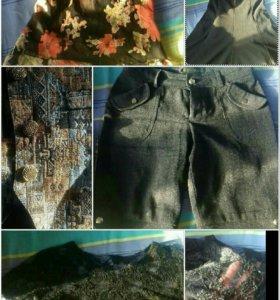 Блузки шорты сарафан жилет 46-48