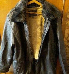 Куртка кожаная 5ХL