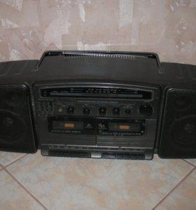Магнитола TEC 887 DR двухкассетная