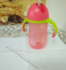 Бутылочка с трубочкой hb