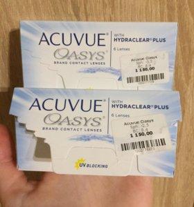 Линзы ACUVUE Oasis -2,5; -3,5