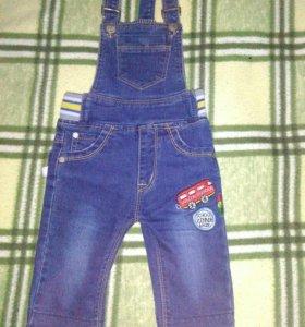 комбинезон джинсовый!