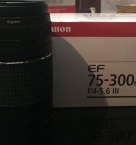 Объектив Canon EF 75-300MM 4-5.6 III USM