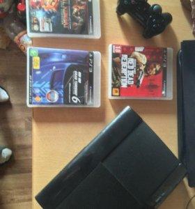PS 3 Super Slim 500gb в очень хорошем состоянии