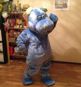 Костюм ростовой куклы, Синий бегемот