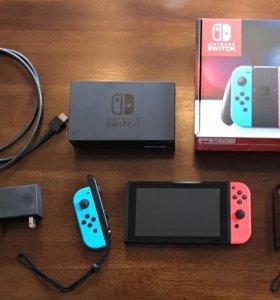 Nintendo Switch Red-Blue с 1 игрой.