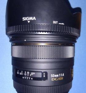 Объектив Sigma 50mm F1,4 DG HSM